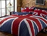 Funky Union Jack British UK Blue Red...