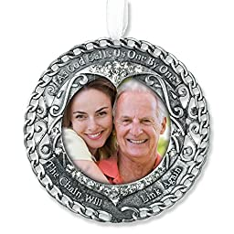 Broken Chain Memorial Ornament - Photo Ornament with Filigree and Crystals - In Memory of a Loved One - Memorial Picture Ornament - Memorial Poem on Gift Box