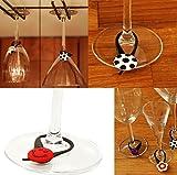 8 pcs Disney Princess Glass Charms Wineglass Drink Marker