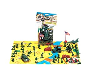 2 Inch Army Men Soldier Battle Set with Flag