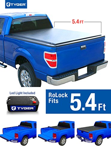 Tyger Auto TG-BC2D2066 RoLock Low Profile Roll-Up Truck Bed Tonneau Cover (For 2005-2011 Dodge Dakota 5'4'' Bed Only) (Tonneau Cover For Dodge Dakota compare prices)