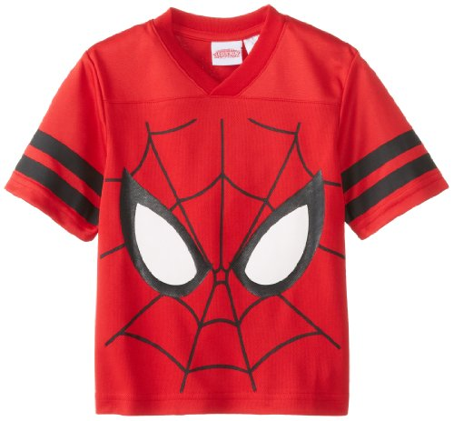 Marvel Little Boys' Spider-Man Jersey-Inspired T-Shirt