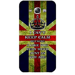 Skin4gadgets I CAN'T KEEP CALM BECAUSE I Like You Very Much Just As You Are - Colour - UK Flag Phone Skin for SAMSUNG GALAXY E7 (E7000)