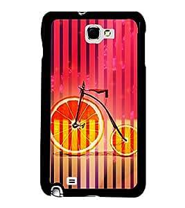 Printvisa Ultra Orange Cycle 2D Hard Polycarbonate Designer Back Case Cover for Samsung Galax...