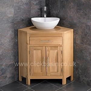 alta solid oak double door space saving corner bathroom cabinet with