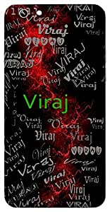 Viraj (Resplendent, Splendour) Name & Sign Printed All over customize & Personalized!! Protective back cover for your Smart Phone : Samsung Galaxy S6 Edge