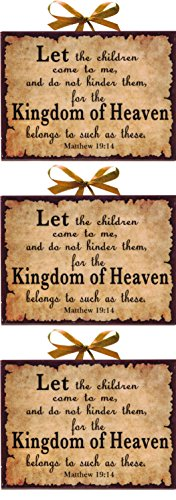 Manual Woodworkers and Weavers Inspirational Christian Plaques, Heaven, Set of 3 (College Girl Halloween Pics)