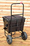 BISON FISHING SEAT BOX TROLLEY COMPLETE WITH SEATBOX