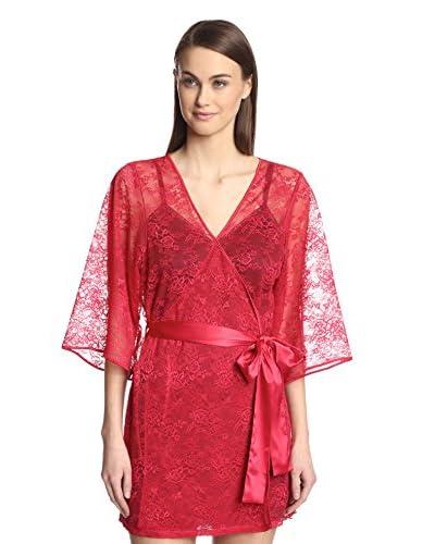 Blush Women's Lace Kimono Robe