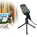 ELEGIANT 高音質 コンデンサーマイク スタジオレコーディング 3.5ミニプラグ スカイプ/宅録/動画投稿/ゲーム実況 タブレットPCWin7対応
