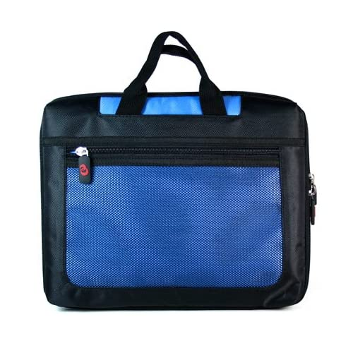 Dell 10.1 inch netbook Dell Inspiron Mini IM10 3354 Black and Blue Airport Check in Friendly Travel Case with outside zipper pocket