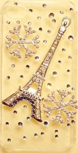 Eiffel Tower with Snowflakes Clear Case for iPhone 4s & 4 Verizon AT&T Sprint Bling Crystal by iPhashon