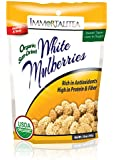 Dried Mulberries | Sun-Dried White Mulberries - 10 oz | USDA Organic | Healthy Snack - Rich in Resveratrol