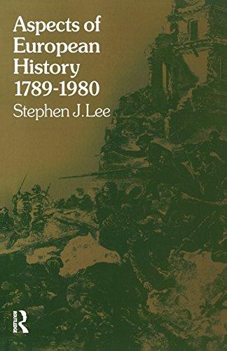 Aspects of European History 1789-1980 (University Paperbacks)