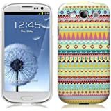 AZTEC MULTI COLOURED DESIGN GEL CASE FOR SAMSUNG GALAXY S3 I9300