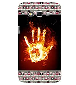 PrintDhaba Flamming Hand D-4643 Back Case Cover for SAMSUNG GALAXY GRAND 2 (Multi-Coloured)