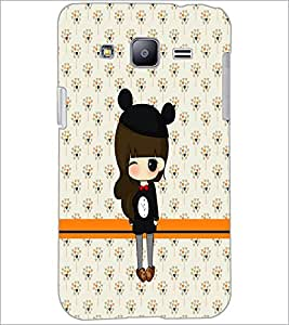 PrintDhaba Cute Doll D-5870 Back Case Cover for SAMSUNG GALAXY J2 (Multi-Coloured)