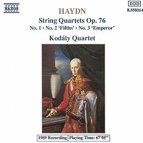 """String Quartet No. 62 in C major, Op. 76, No. 3, Hob.III:77, """"Emperor"""": II. Poco adagio, cantabile"""