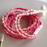 Free shipping thru April MyBudShop.com Wrapped Tangle Free Earbuds Rich Ombré Three Pinks Headphones Made for Apple iPhone 5, 5c, 5s, iPad, iPod, EarPods, Headphones