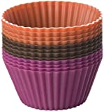 Chicago Metallic Baking Essentials Silicone Baking Cups, Set of 12