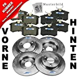 4x Brake discs + Brake pads front and rear axle AUDI A3 8L 8L1 1.8 1.9 TDI SEAT LEON 1M 1M1 1.6 1.8 20V 1.8 20VT +4x4 1.9 SDI 1.9 TDI +4x4 TOLEDO MK II 2 1M 1M2 1.4 16V 1.6 16V 1.8 20V 1.8 20VT 1.9 TDI 2.3 V5 VW BORA 1J 1J2 1J6 1.4 16V 1.6 1.9 1.9 TDI 2.