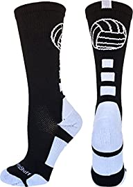 Volleyball Logo Crew Socks