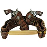 Western Pistols With Bandolier Toilet Paper TP Holder