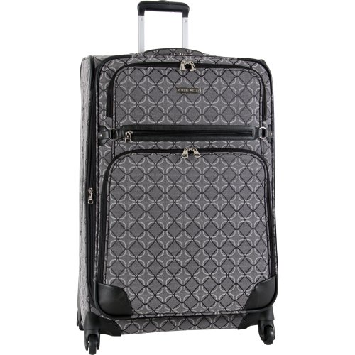 Ninewest Luggage 9 Element 28 Inch Upright Spinner, Black/Grey, One Size
