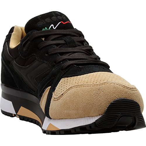 Diadora N9000 Double Mens Black Tan Suede/Synthetic Sneakers Shoes 8
