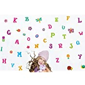 Oren Empower Multicolor Alfabets Wall Sticker For Kids Room (Finished Size On Wall - 100(w) X 110(h) Cm)