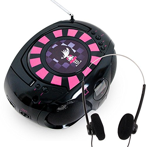 Lettore CD boombox boombox stereo radio portatile BigBen CD45 EMO + cuffie