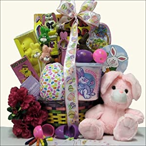 Hoppin' Easter Fun: Girl's Child Easter Basket Ages 3 to 5 Years Old