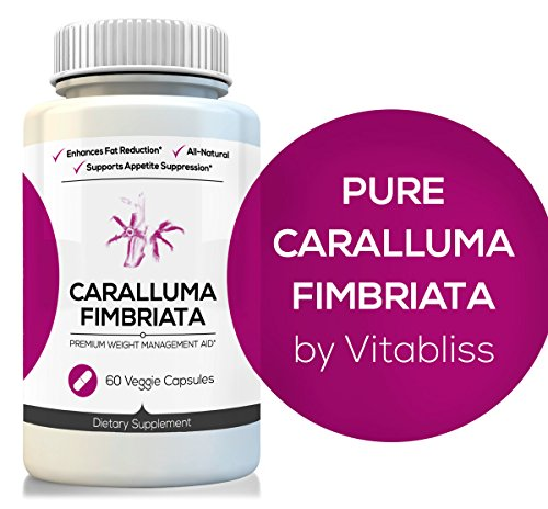 Pure Caralluma Fimbriata 10:1 Extract, 960Mg, 60 Count - High Potency Herbal Weight Loss Diet Supplement Pills From Whole Cactus Plant - Natural Appetite Suppressant & Fat Burner - 60 Vegetarian Capsules, 30 Day Supply - All Our Products Come With 100% Sa