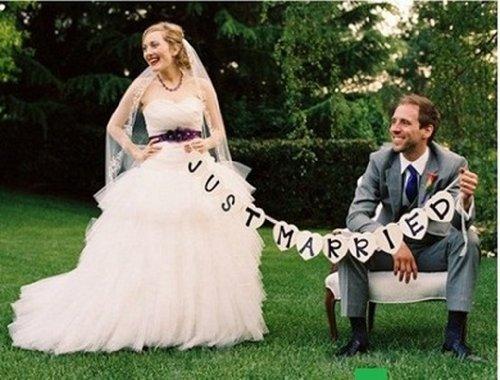 演出上手 ! JUST MARRIED メッセージ プレート + ハート 風船 セット 結婚式 小物 アイテム パーティー グッズ ウェディング 誕生日 パーティーグッズ 写真 (JUST MARRIED)