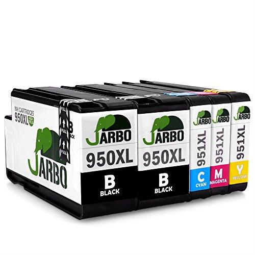JARBO Kompatibel HP 950XL 951XL Tintenpatronen 1Set+1Schwarz Hohe Kapazität kompatibel zu HP Officejet Pro 8600 8610 8620 8630 8640 8660 8615 8625 8100 251dw 271dw Drucker (2 Schwarz,1 Cyan,1 Magenta,1 Gelb)