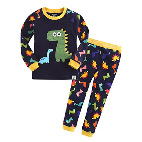YISUMEI Children's Pajamas Thermal Underwear Cute Dinosaur Navy 6T (Toddler One Piece Thermal Pajamas compare prices)