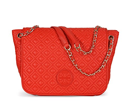 Tory Burch Marion Quilted small Sholder Bag in Masaai Red - 1