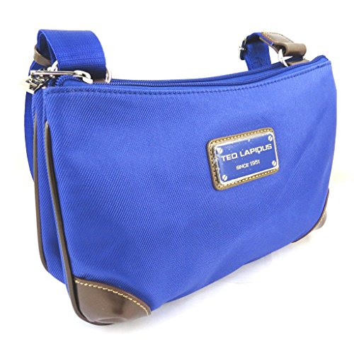 Borsa a tracolla 'Ted Lapidus'royal blue (2 scomparti).