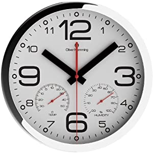 hemming temperature and humidity thick case climate centre wall clock