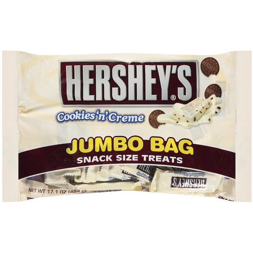 Hershey's Cookies 'n' Creme Snack Size Bars, 17.1-Ounce Bag (Hershey Cookies N Cream compare prices)