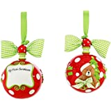 """Mud Pie 4"""" My First Christmas Ornament (Discontinued by Manufacturer)"""