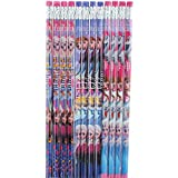 Licensed Disney Frozen® Pencils w/erasers Elsa, Anna, Olaf-12 pcs