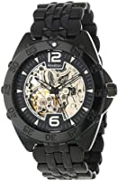 Armitron Men's 20/4768TITI Automatic Black Ion-Plated Silver-Tone Accented Bracelet Dress Watch from Armitron