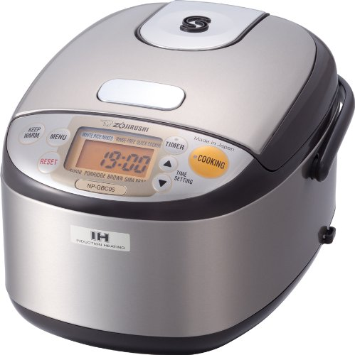 Zojirushi NP-GBC05-XT Induction Heating System Rice Cooker and Warmer, Stainless Dark Brown (Electric Cooker Ih compare prices)