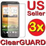 GUARMOR 3x HTC EVO 4G LTE NOT for HTC EVO 4G Premium Invisible Clear LCD Screen Protector Cover Guard Shield Protective Film Kit 3 pieces