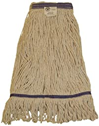 Zephyr 26304 Blendup 4-ply Blended Natural and Synthetic Fibers 2X-Large Loop Mop Head with 1-1/4\