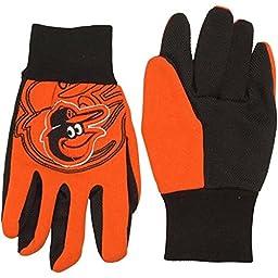 Baltimore Orioles Raised Logo Gloves - Orange