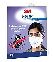 Nexcare 3M Anti Pollution Dust Mask - White - (Pack of 4)