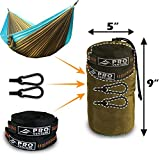 Proventure Double Camping Hammock - Lightweight and Compact - For Backpacking, the Beach, Back Yard, Travel, or Any Adventure! - FREE 9ft Tree Straps