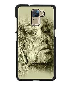 Fuson 2D Printed Designer back case cover for Huawei Honor 7 - D4584